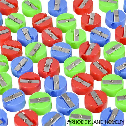 SOLID COLOR ROUND PENCIL SHARPENERS, 144 PIECES