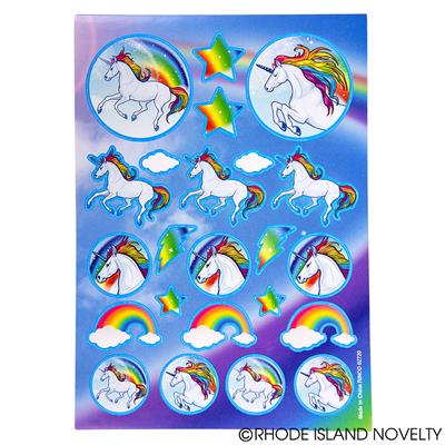 Unicorn Sticker Sheets, 12 Pieces
