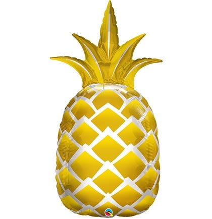 GOLD PINEAPPLE SUPER SHAPE MYLAR BALLOON