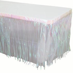 IRIDESCENT METALLIC TABLE SKIRT