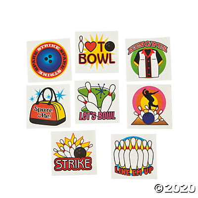 BLOWLING TEMPORARY TATTOOS 72PCS