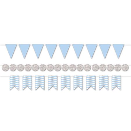 BLUE AND SILVER METALLIC STREAMER KIT 6' - 3 PIECES