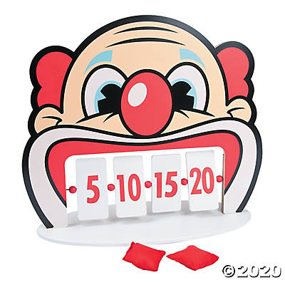 CLOWN TOOTH BEAN BAG TOSS GAME