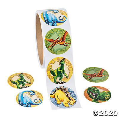 Dinosaur Roll Stickers