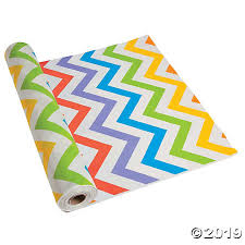 Chevron Multi Color Tableroll