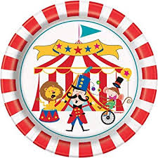 "Circus Party 7"" Paper Plate"