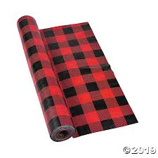 Black and Red Buffalo Print Tableroll