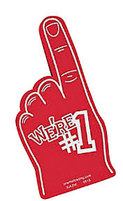 We're #1 Red Foam Finger