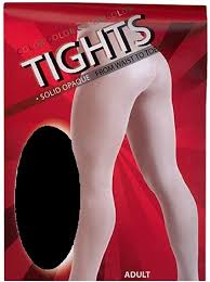 Tights - Black Solid Adult Size
