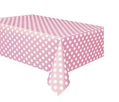 Pastel Pink Polka Dot Tablecover