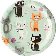 "Purr-fect Cat Party 7"" Paper Plates"