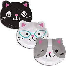 "Purr-fect Cat Party 9"" Paper Plates"