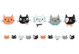 Purr-fect Cat Party Streamer Banner