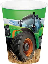 Tractor Time 9oz. Hot/Cold Paper Cups
