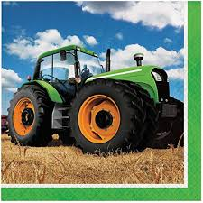 Tractor Time Luncheon Napkins