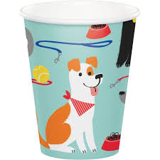 Dog Party 9oz. Hot/Cold Paper Cups