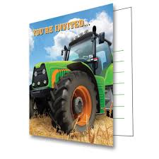 Tractor Time Invitations