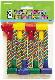 Candy Striped Party Blowouts