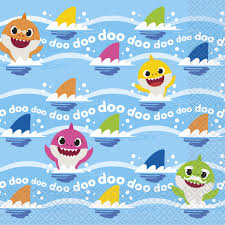 Baby Shark Luncheon Napkins