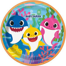 "Baby Shark 9"" Paper Plates"