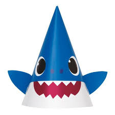 Baby Shark Paper Party Hats