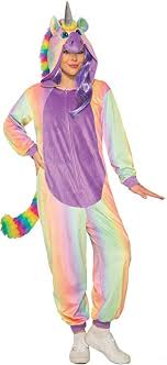 Rainbow Unicorn Jumpsuit - Adult Costume