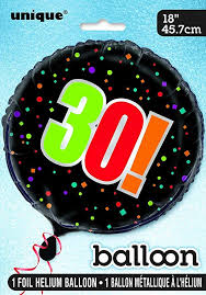 "Birthday Cheer 18"" Mylar Foil Balloon - 30"