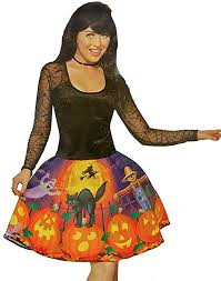 Jack-O-Lantern Halloween Dress - Adult Costume