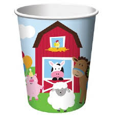 FARMHOUSE BIRTHDAY PAPER CUPS 8CT