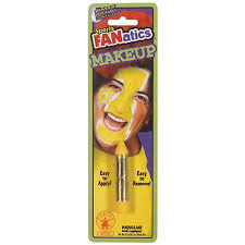 Sports FANatics Yellow Make Up Stick