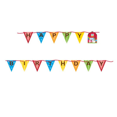 FARMHOUSE BIRTHDAY BANNER