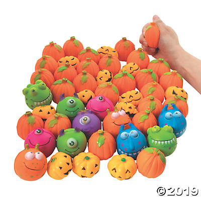 FOAM HALLOWEEN STRESS TOY ASSORTMENT 50PCS