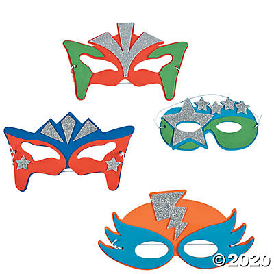 Superhero Foam Masks