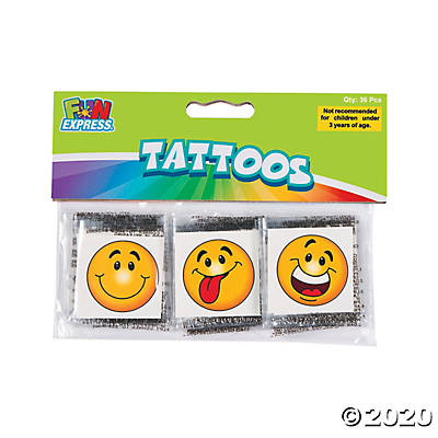 Goofy Smile Temporary Tattoos