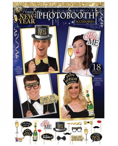 NEW YEAR'S PHOTO BOOTH PROPS
