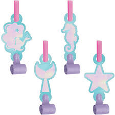 MERMAID SHINE PARTY BLOWOUTS 8CT