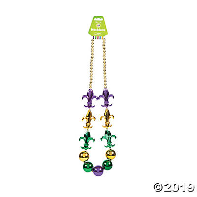 LARGE MARDI GRAS BEADED NECKLACE