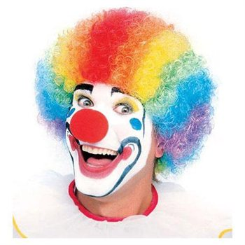 Popular Rainbow Adult Clown Wig