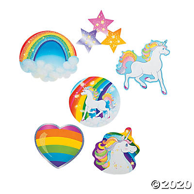 Unicorn Glitter Cutouts