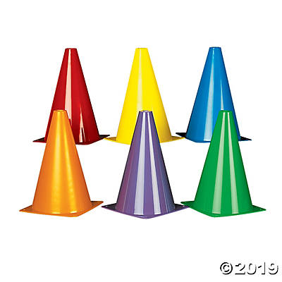COLORFUL TRAFFIC CONES 12CT