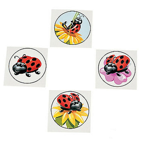 Lady Bug Temporary Tattoos