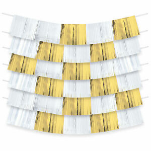 WHITE & GOLD FOIL DECORATING BACKDROP KIT  60""