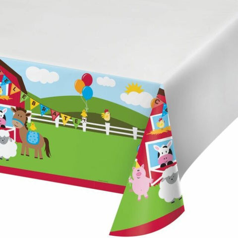 FARMHOUSE BIRTHDAY PLASTIC TABLE COVER