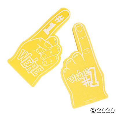 We're #1 Yellow Foam Finger