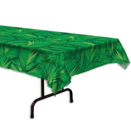 PALM LEAF PLASTIC TABLE COVER  1PC