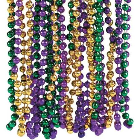 120 COUNT BEAD ASSORTMENT PURPLE, GREEN & GOLD
