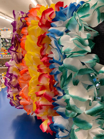 DELUXE TWO TONE HAWAIIAN LEI