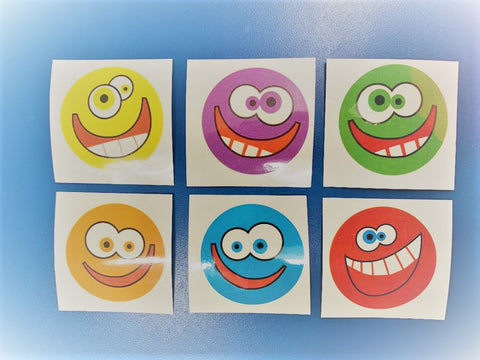 Crazy Smile Face Temporary Tattoos