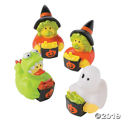 TRICK OR TREATING RUBBER DUCKIES 6PCS