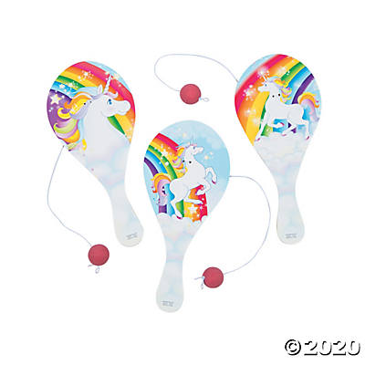"9"" UNICORN PADDLEBALLS"